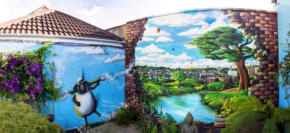 Garden Mural Illusion