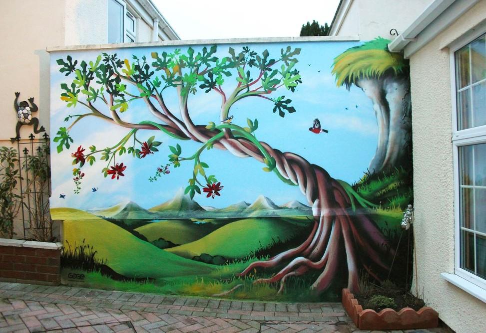 Garden Mural Bbc Radio Bristol Gage Graphics