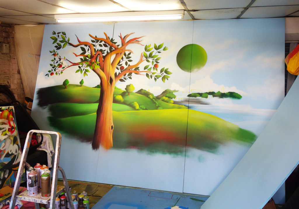 Mural_BristolCiderShop_Progress