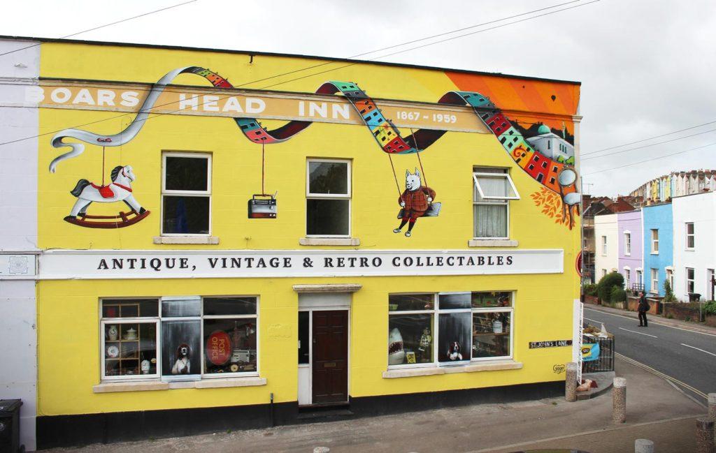 Mural on Piglets Shop Side