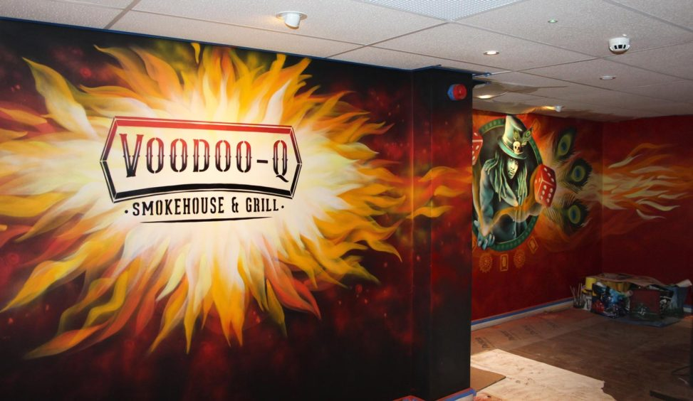 Voodoo Q Restaurant Entrance Wall
