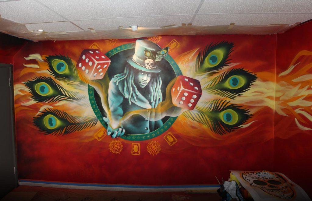 Voodoo Q Restaurant LUCK Wall